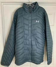 Mens XL NWOT UNDER ARMOUR Storm2 Water Resistant Weather Down Puff Zip Up Jacket