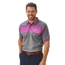 Under Par Mens Moisture Wicking Crease Resistant Contrast Golf Polo Shirt Top