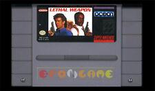 LETHAL WEAPON Super Nintendo SNES Versione Americana NTSC ○○○○○ SOLO CARTUCCIA