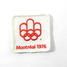 True Vintage 1976 Montreal Canada Summer Olympics Rings Embroidered Sew On Patch Olympics