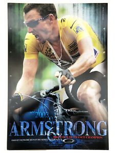 Lance Armstrong Poster 13x19 Oakley M Frame 2004 Tour De France Champion Cycling