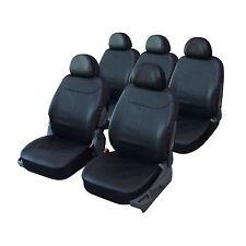 Housse siège auto universelle spéciale MONOSPACE 5 places en simili cuir NOIR