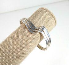 Silver Tone Three Wave Cuff Bracelet