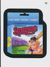 2016 TOPPS WACKY PACKAGES MLB - NASHVILLE SOUNDS EAR PLUGS - STICKER #70