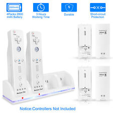 For Nintendo Wii 4 Rechargeable Battery Remote Controller Charger Charging Dock
