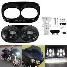 Black Daymaker Projector Dual LED Headlight for Harley Davidson Road Glide 04-13