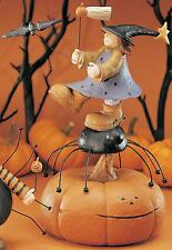 """Girl, Spider and Pumpkin - """"Along Came a Spider"""" - Williraye - 6044 - New in Box"""