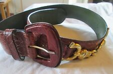 Magnifique ceinture made in Italy  en cuir TBEG  vintage T 80 cm - Belt