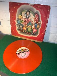VINTAGE SNOW WHITE RECOR 78 SIZE PETER PAN RECORDS LATE 1940'S ORIGINAL SLEEVE