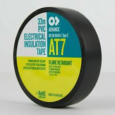 20 x ADVANCE 'AT7' Black PVC Electrical Insulating Insulation Tape - EPT7 x2