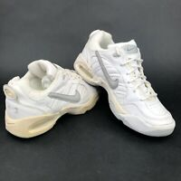 Vintage 90s Nike Air Ace Mens 6.5 Low Top Running Shoes White Gray Dead Stock