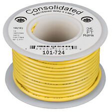 Consolidated Stranded 18 AWG Hook-Up Wire 25 ft. Yellow UL R