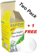 3 x EASYDIM Light Bulb Unique Special Dimmer Lightbulb Lamp Plug-in 60w UK Stock