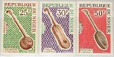 Niger 1972 335-37 ex 245-50 Music stringed instruments Musikinstrumente MNH