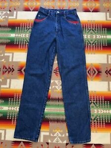 80s Black Denim Cowgirl Western Jeans High Waisted ROCIKES Jeans Country High Waist Pants 1980s Mom Jeans Womens size 30  11