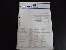 Original Service Manual  Telefunken MC 1