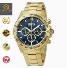 Authentic Hugo Boss Men's Gold Ikon Chronograph Watch HB1513340 - *NEW*
