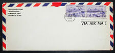 US Airmail Cover FDC Kansas Centennial Pair Stamp USA Lupo Ersttagsbrief H-7172+