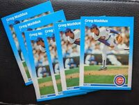 1987 FLEER UPDATE #U-68 GREG MADDUX ROOKIE CARD RC HOF LOT OF 6 PRINT DEFECTS EX