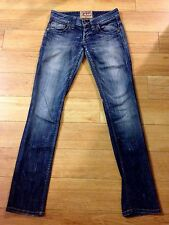 Guess Distressed Ultra LOW RISE SKINNY Stretch Jeans Leggings Jegging 24 x 32