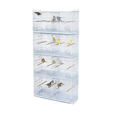 Kookaburra Walnut Double Wire Breeding Cages x4 - For Cockatiels, Budgie, Canary