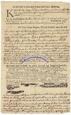 D of I Signer William Williams signed legal document w/2 Trumbulls 1762