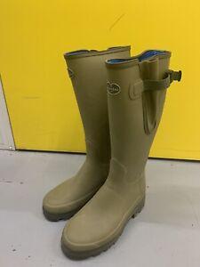 Le Chameau Vierzonord Wellies Wellington Boots 8 UK