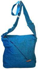 Hippie Boho Solid Color Blue Red Brown Black Shoulder Cross Body Messenger Bag