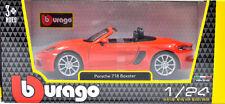 Porsche 718 Boxster Lava-Orange from bburago Scale 1:24