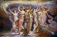 Painting Allegory Greek Vedder Pleiades Old Large Replica Canvas Art Print