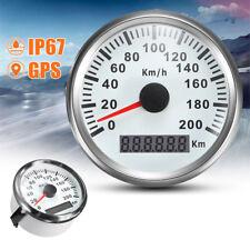 Waterproof Digital Stainless GPS Speedometer Car Truck Gauge 200Km/H 85mm Superb