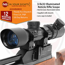 3-9x32 Rifle scope /Shockproof, Illuminated reticle riflescope & dovetail mounts