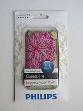 Philips iPod Touch Slim Shell Case - Pink/Green Flowers DLA8255/17 New