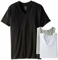 Calvin Klein Men's Cotton Classics Short Sleeve V-Neck T-Shirt, Multi, Medium