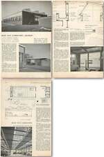 1958 Road Test Laboratory, Cheshire, Frederick Gibberd Design, Plans