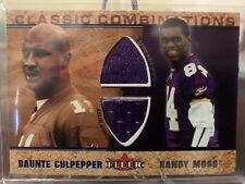 2002 Fleer Classic Combinations Daunte Culpepper Randy Moss Dual Jersey 41/100