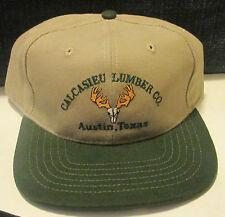 Calcasieu Lumber Co. Austin, Texas - Khaki/Dark Green Adjustable Cap Hat - NEW