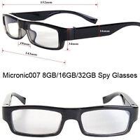 32GB Hidden Spy Camera DVR Slim Glasses 1080P Video Recorder & Audio Microphone