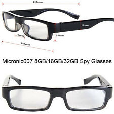32GB HIDDEN SPY CAMERA DVR SLIM GLASSES 1080P VIDEO RECORDER & AUDIO MICROPHONE