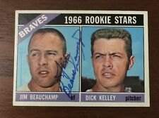 JIM BEAUCHAMP 1966 TOPPS ROOKIE RC AUTOGRAPHED SIGNED AUTO BASEBALL CARD 84