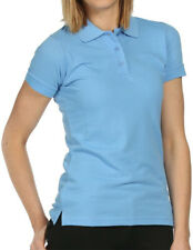 Regatta Classic Womens Polo Shirt Blue Short Sleeve Top Air Flow Construction