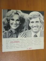 Vtg AP Wire Press Photo Actor Gary Collins w/ Wife Actress Mary Ann Mobley 1/88