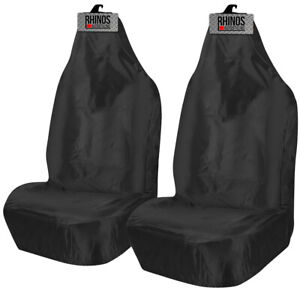For Ford Transit Connect Heavy Duty Black Waterproof Van Seat Covers 2 x Fronts