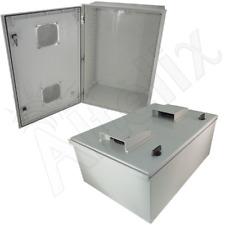 Altelix 24x16x9 Vented Fiberglass NEMA Box 3X Weatherproof Outdoor Enclosure