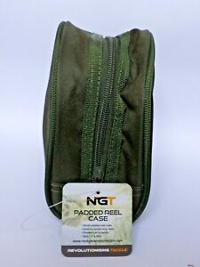 New NGT Deluxe Green Big Pit Reel Case Bag Carp Pike Fishing Tackle Large Padded