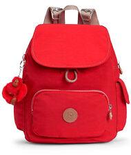 kipling City Pack S Backpack True Red Combo