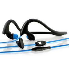 NoiseHush NS200 3.5mm Sports Neckband Stereo Headset - Black/Blue
