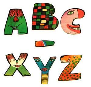 Janosch Holz-Buchstaben von A - Z Vornamen Kinder-Zimmer Baby Deko Beschriften