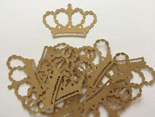 Gold Princess Party Cardstock Crown Diecuts, Decorations, Scrapbooking, Cards