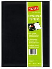 Collins A4 Black Faux Leather Executive Conference Folder Folio Pockets & Pad